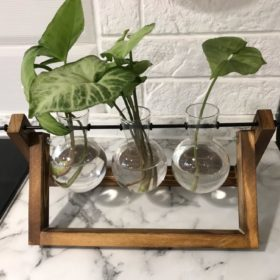 Nordic Wooden Stand Planter photo review