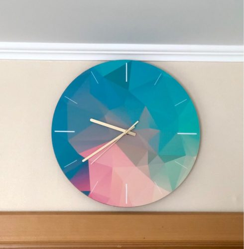 Nordic Colorful Wall Clock photo review
