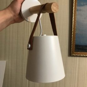 Nordic Wooden Hanging Wall Lamp photo review